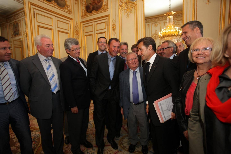 Avec le président Nicolas Sarkozy.