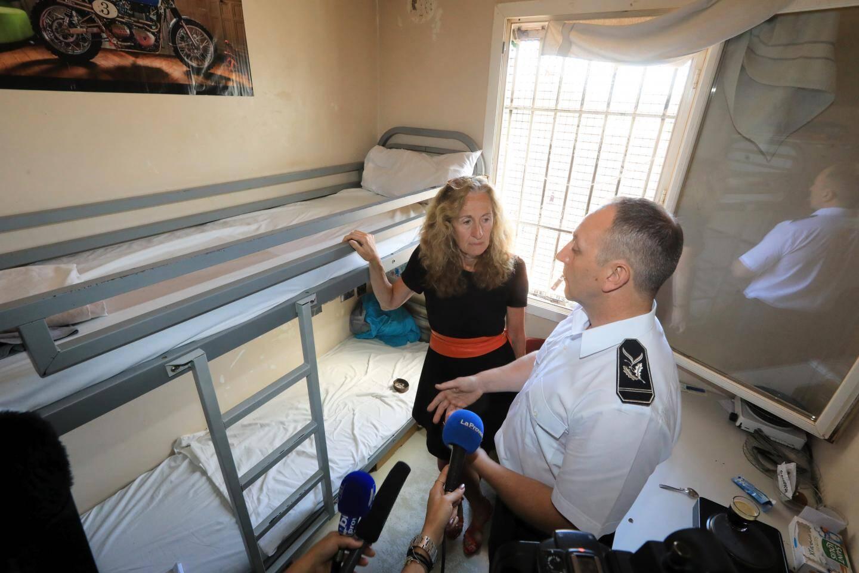 Visite de La Garde des Sceaux, Nicole Belloubet, à la prison de La Farlède.