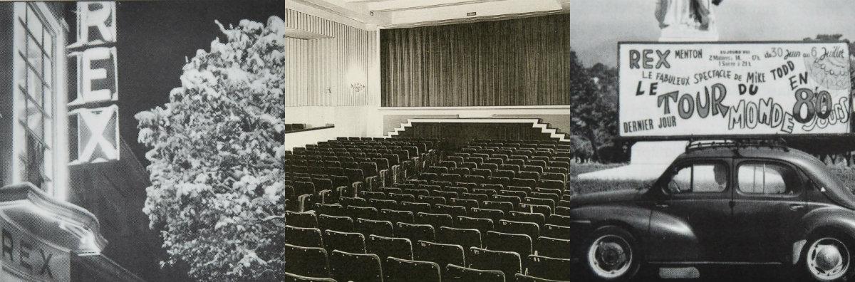 Le Rex – de son précédent nom «le Majestic» – anciennement situé au 8 avenue Thiers, a été connu pour avoir diffusé les premiers films en relief 3D de la région, dans les années 1950. Seule une quinzaine de films seront alors projetés à ce moment selon ce procédé. Et à chaque occasion, la queue pour assister à la séance s'étendait jusqu'au coin de la rue. Il fallait même parfois emprunter des chaises au bar voisin pour faire asseoir tout le monde. Fermé en 1965, les ouvreuses qui y ont travaillé s'accordent pour dire que le Rex était «la plus belle salle de la Côte d'Azur»...