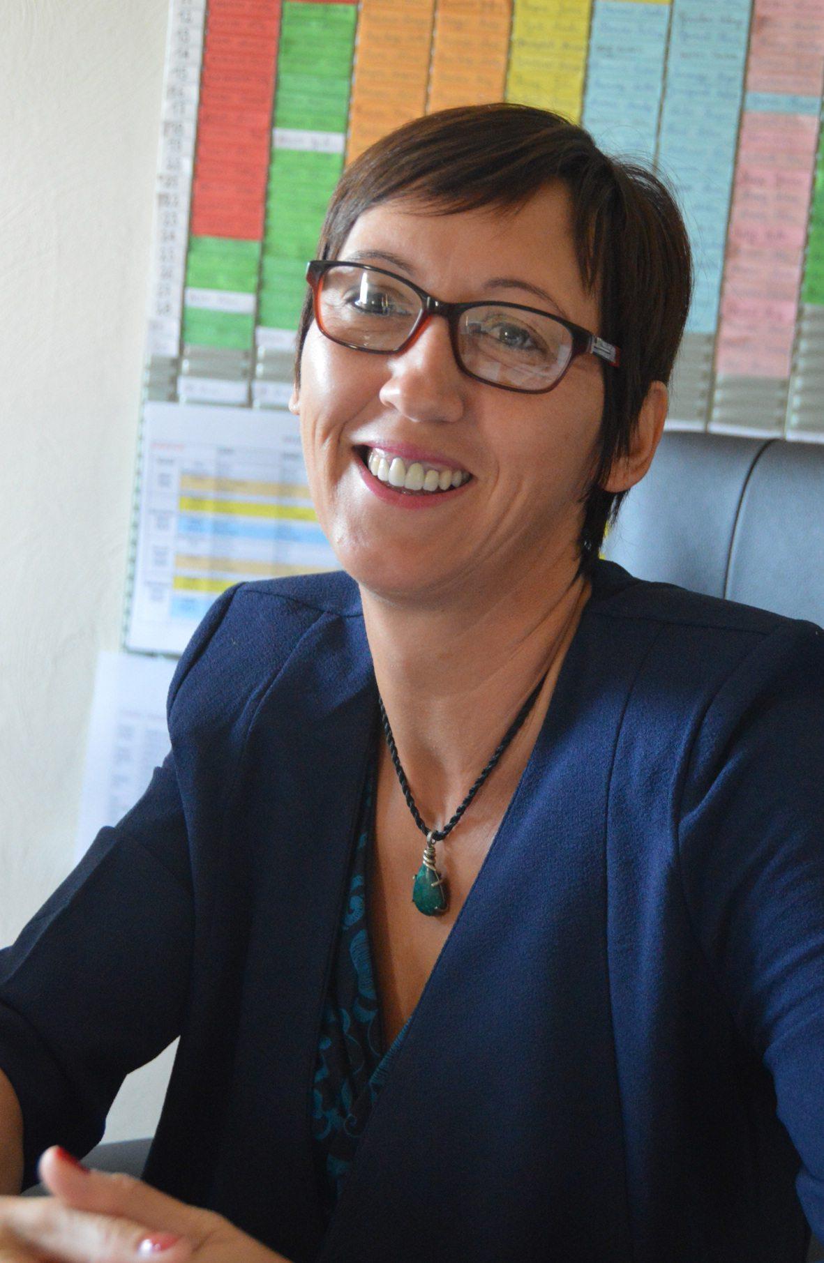La directrice Eliane Gauer a abordé l'année scolaire avec un grand sourire.