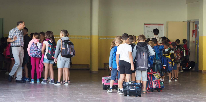 A l'école du Val Fleuri, à Cagnes-sur-Mer.