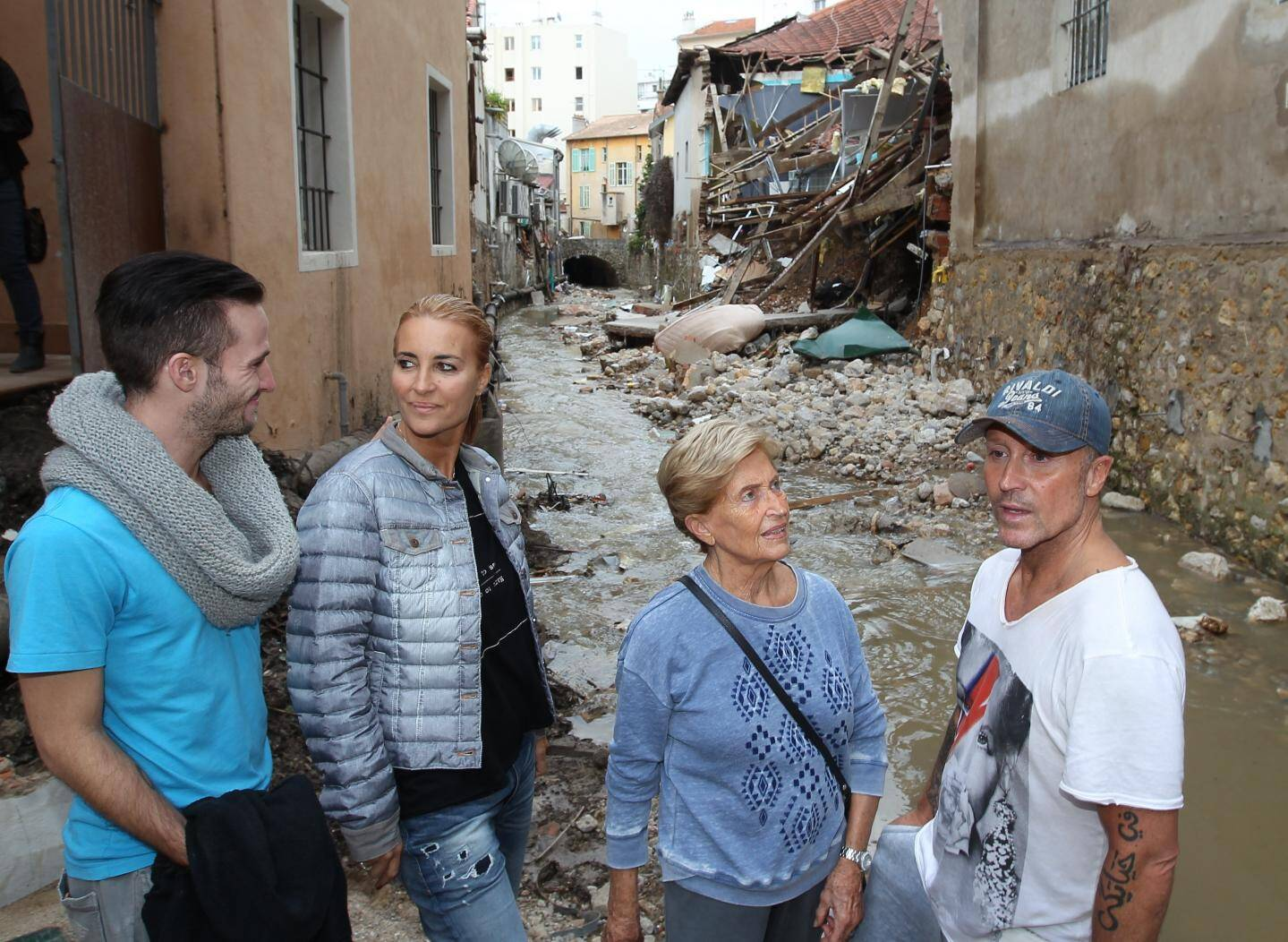Les ruines de l'école de danse après les inondations du 3 octobre 2015.