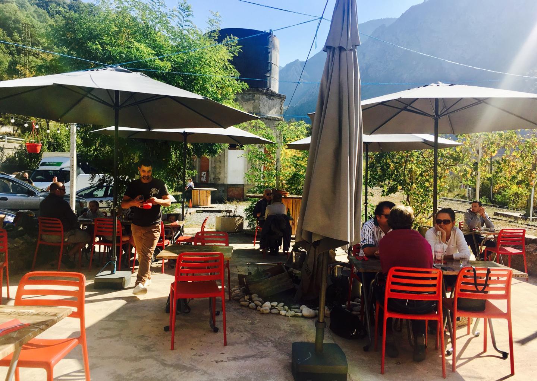 La terrasse de l'Alpazur un mercredi d'octobre