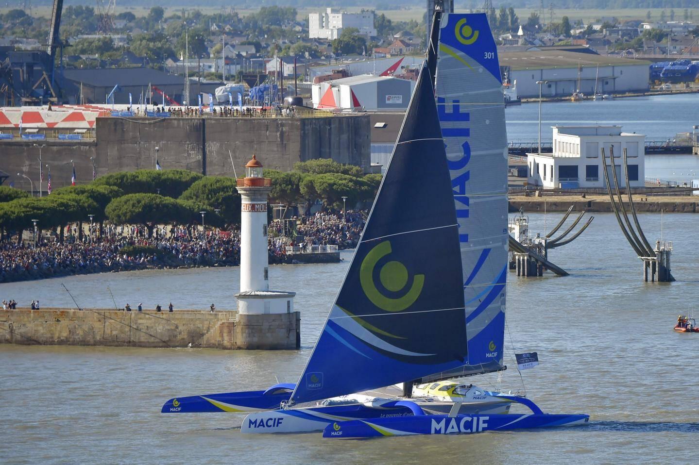 Macif est attendu à Brest en fin de semaine.(Ph. AFP)
