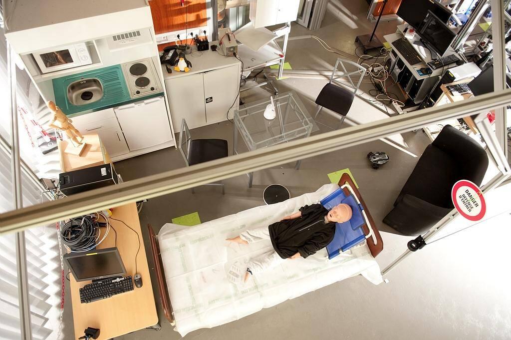 L'appartement témoin avant l'installation du robot à câbles.