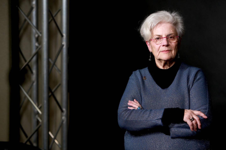 """Martine Landry, bénévole pour Amnesty International encourt 6 mois de prison pour """"aide"""" aux migrants."""
