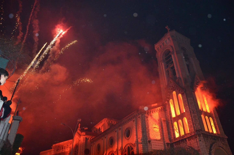 Célébration de la Saint-Joseph avec spectacle pyromélodique.