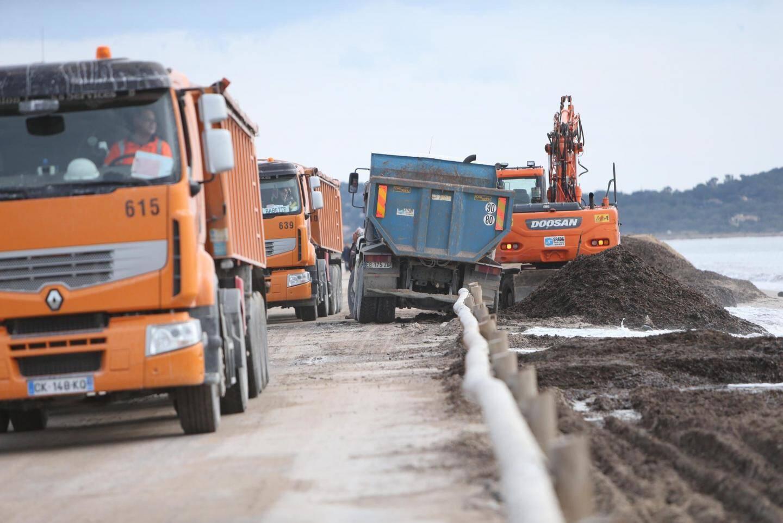 Les travaux sur la route du Sel devraient se poursuivent jusqu'à la mi-avril.