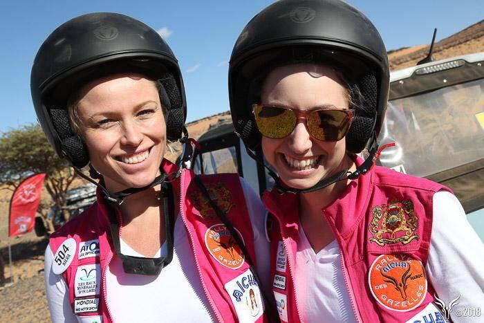 Jazmin Grace Grimaldi et Kiera Chaplin se classent à la troisième place du E-Gazelles (sur 5 équipages).