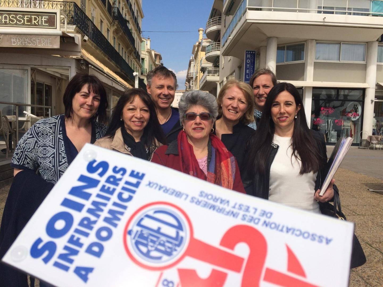 Les membres du bureau de l'association des infirmiers libéraux de l'Est-Var (AILEV) proposent de nouveaux regroupements demain et le 31 mai.