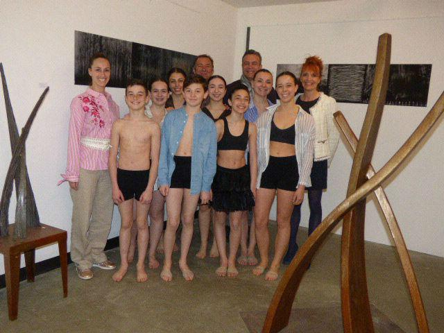 Les danseurs de la compagnie Marina Torres étaient les invités du sculpteur Eric Di Fruscia.