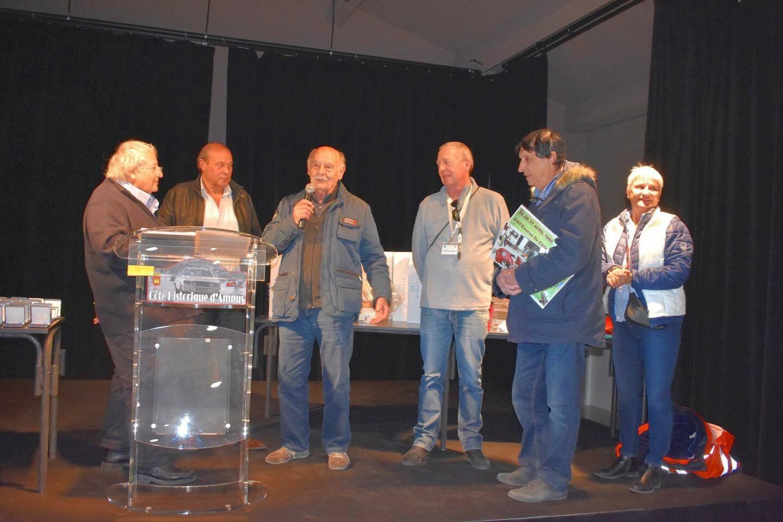 Le speaker Claude Julian, Hugues Martin, Robert Augias, Remy Ottevent, et Ghislaine André, ont contribué au succès de cet événement.