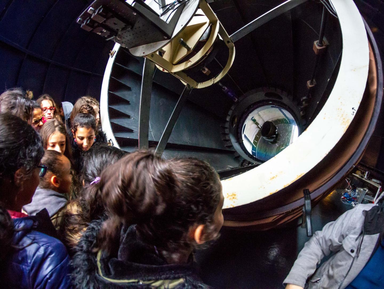 Visite de la station MeO et son laser pointé soit sur la lune ou les satellites.