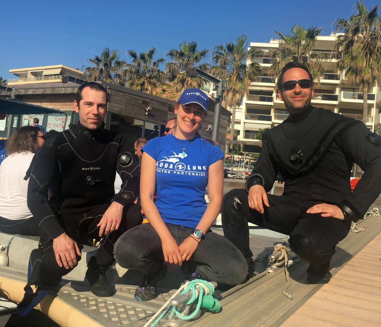 Marie Jeanne Arguel, Samuel Jeglot et Damien Eloire co-fondateur de l'association NaturDive.