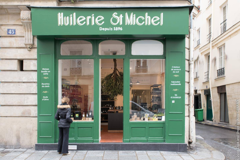 L'Huilerie Saint-Michel en plein cœur de Paris.