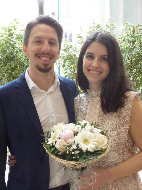 Federico Pavan, ingénieur, et Lucile Reuter, chef de produits.