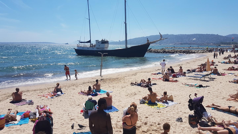 Personne n'a paniqué sur la plage de Juan.