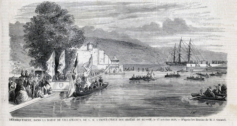 L'arrivée de l'impératrice à Villefranche en 1859.