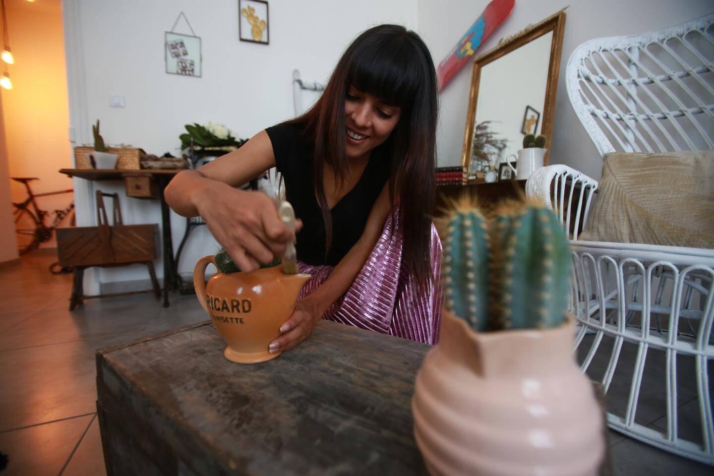 """Sophia a créé un """"e-shop: Retro cactus""""."""