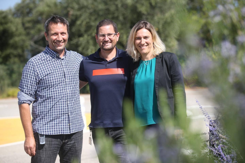 De gauche à droite, Gérard Feraille, Tony Minier et Claire Friry-Santini font partie de l'un des plans de reprise du site de Galderma.