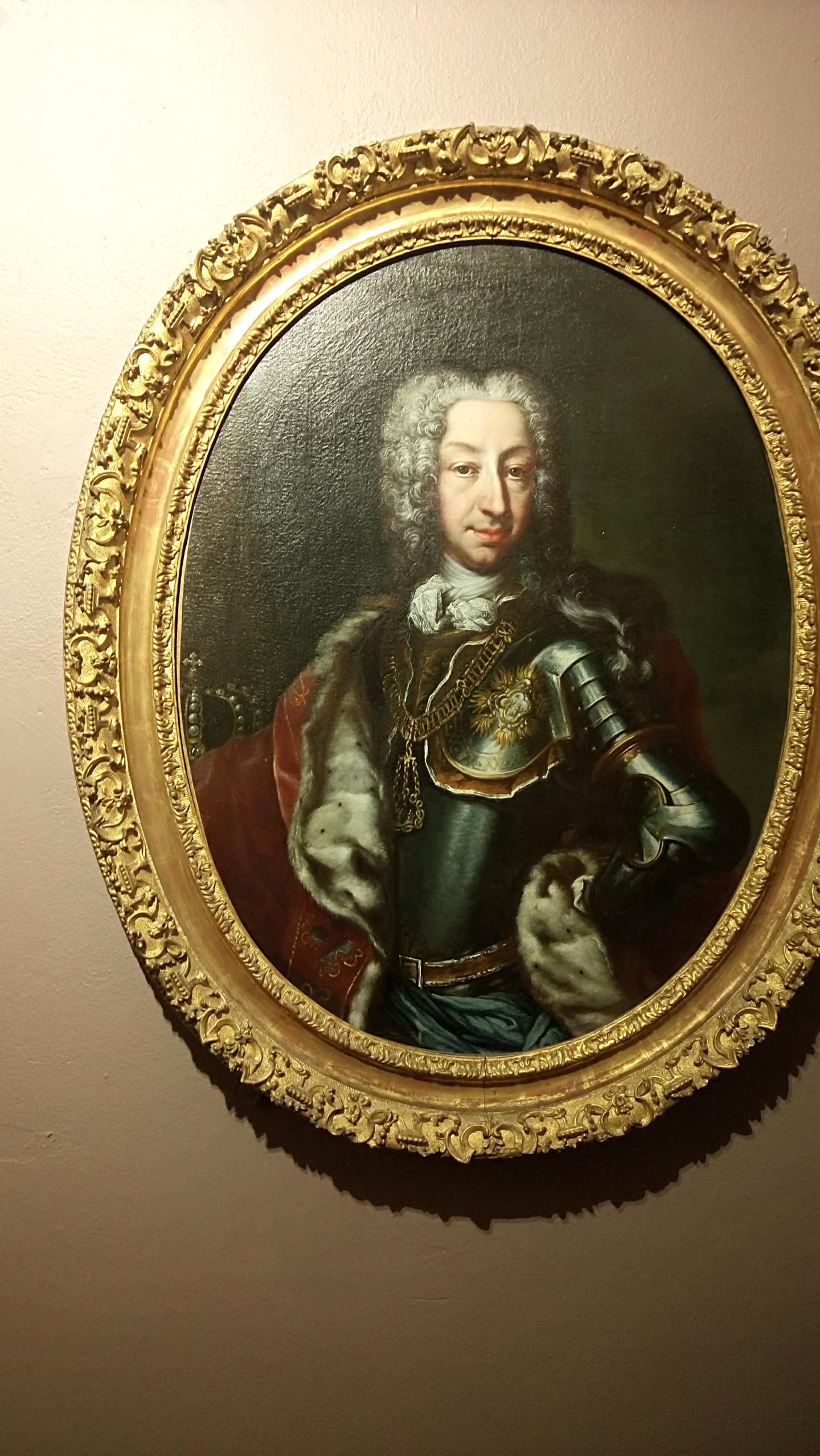 Un sosie de Stéphane Bern au palais Lascaris.