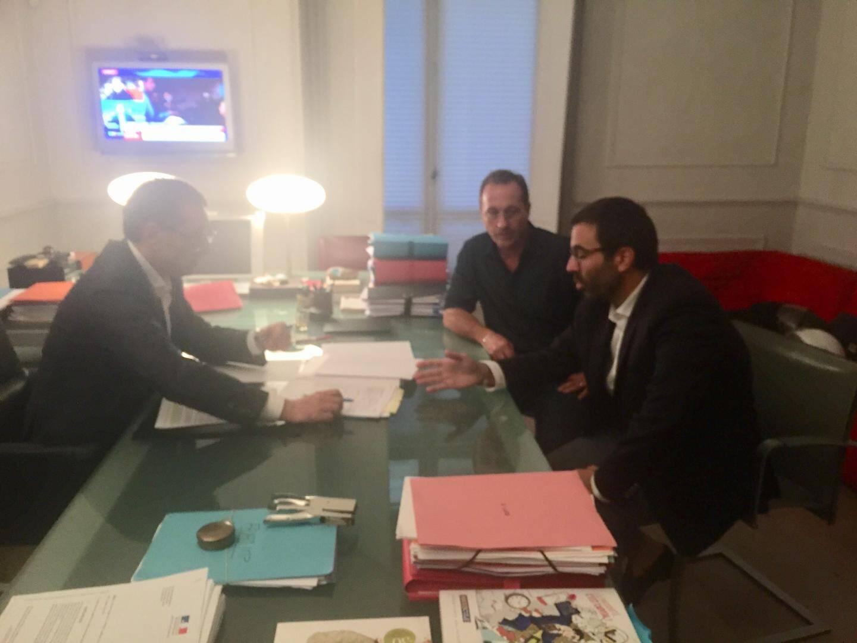 Denis Delaup avec Me Soussi et Lauze.