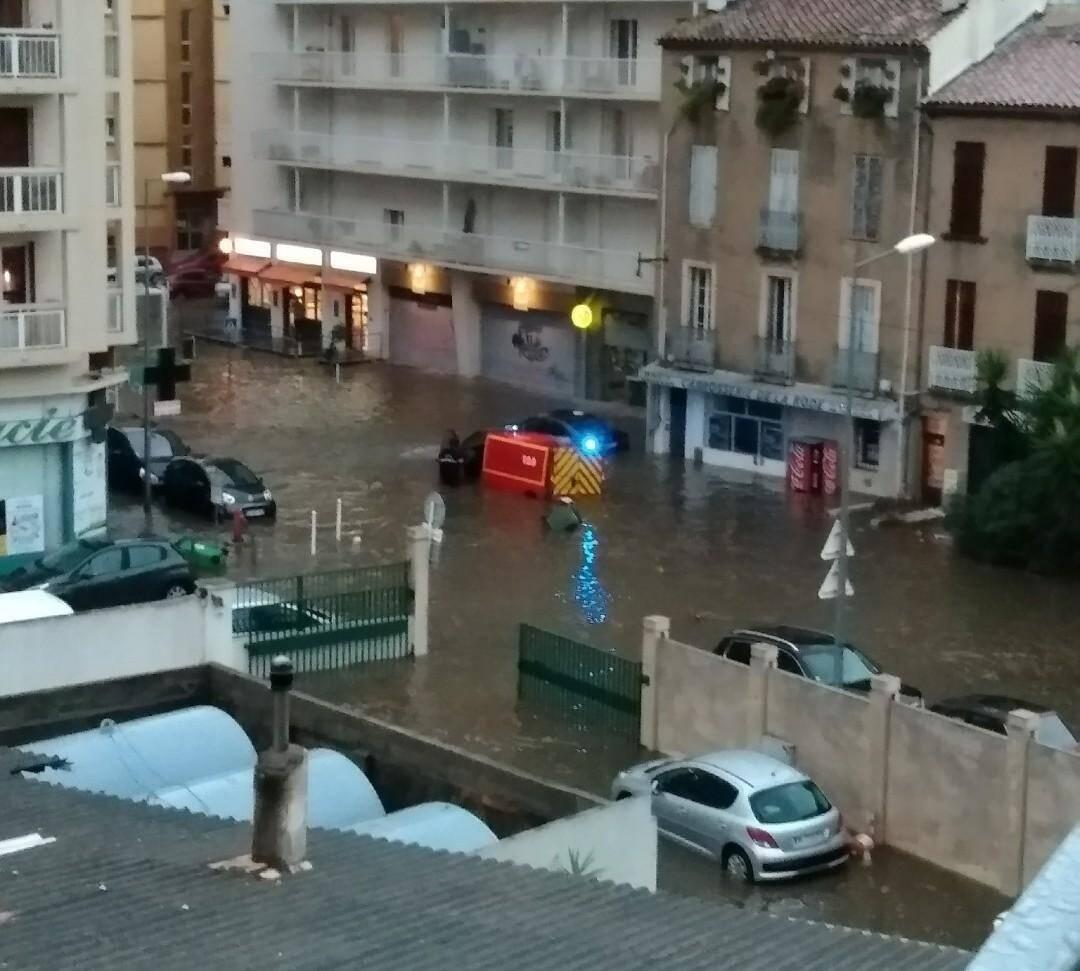 La Rode à Toulon, sous les eaux.