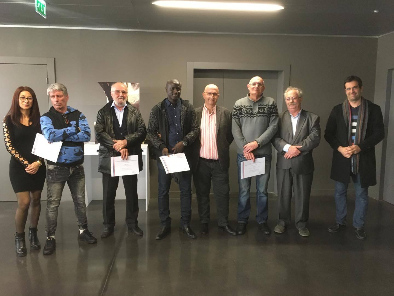Ont reçu la médaille d'argent du travail : Alain Mendy et Joëlle Galvagno. Ont reçu la médaille d'or : Éric Certhoux, Laurent Nivard, Gilles Guintini et Claude Cutayar.