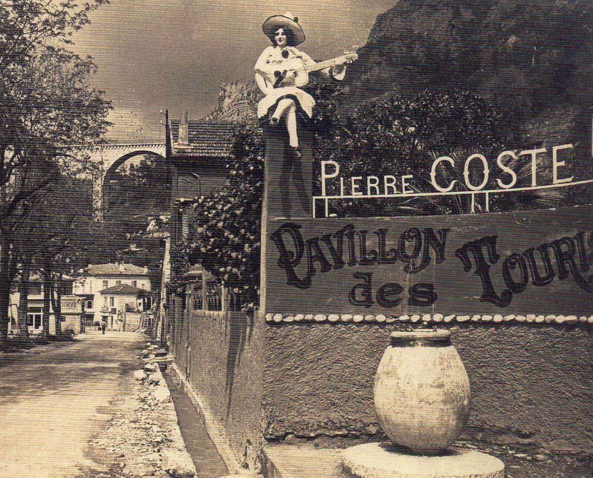 Au Pont du Loup, le chef Pierre Coste régale au Pavillon des Touristes.   (Coll. Société Historique de Tourrettes)