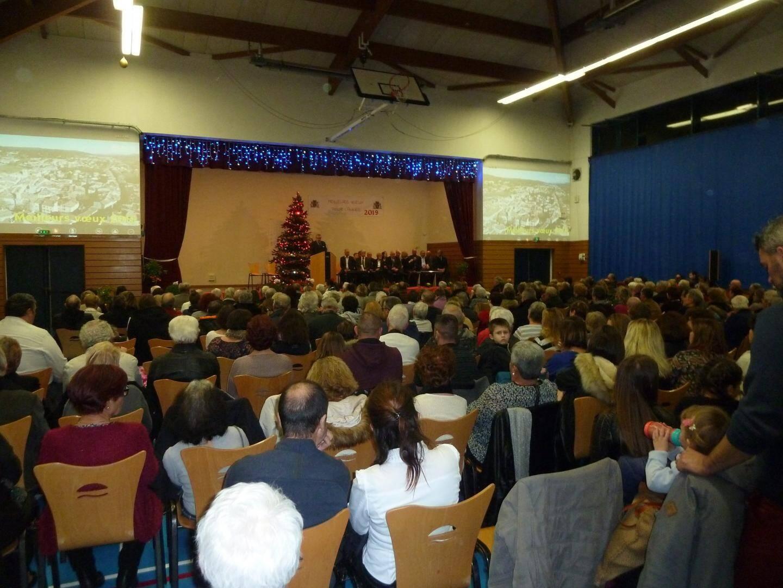 Le maire Robert Michel a présenté sa traditionnelle cérémonie de vœux devant une salle Berthoire bondée.