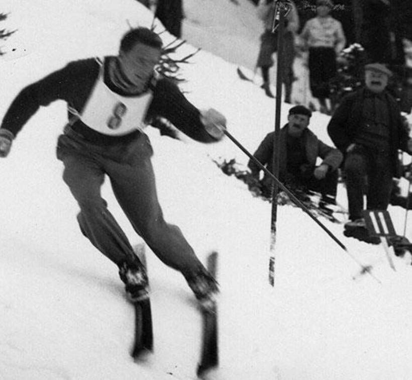 Emile Allais, grand champion de l'époque, n'arriva que deuxième à Auron.
