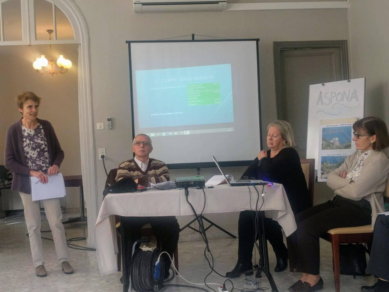 Les membres d'Aspona ont présenté les préoccupations majeures des Mentonnais.