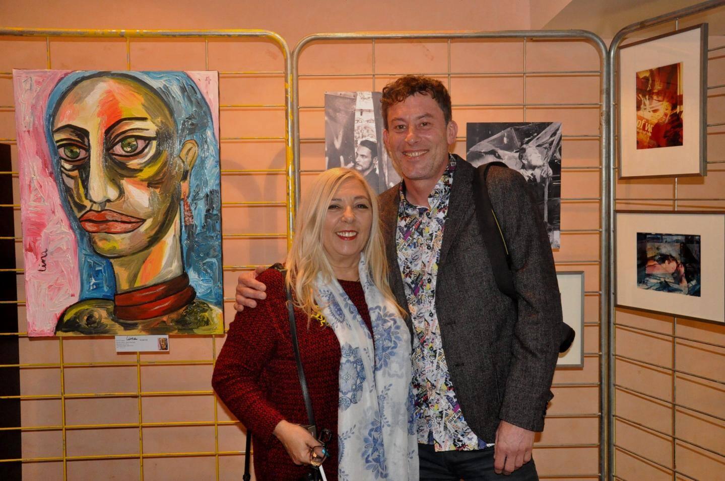 Lina Marcos et Cyrille Thomas (alias Cyrto) ont présenté leur travail sur le thème « Le rêve et la folie » .