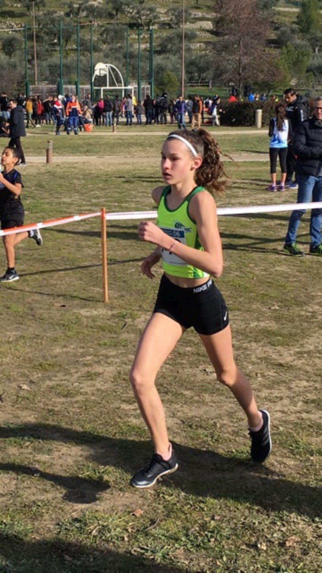 Emma Moura, vice championne régionale.