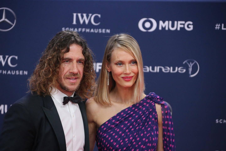 Carles Puyol (foot) et sa compagne Vanessa Lorenzo.