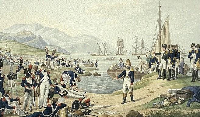Le retour de Napoléon Bonaparte à Golfe-Juan.