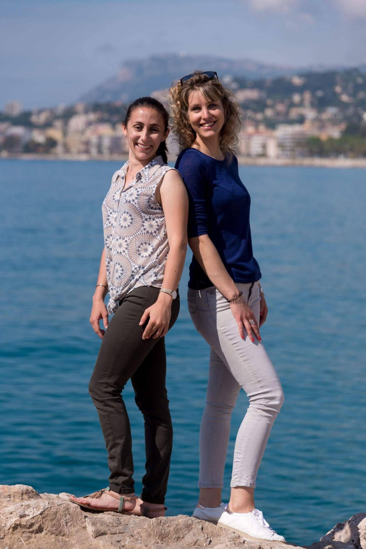 Aurélie Tata et Célia Andrès (ici, à Menton) revendiquent leur origine azuréenne.(DR)