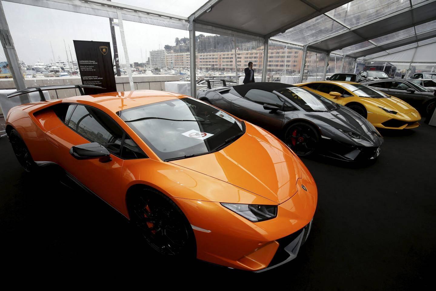 Trois sublimes Lamborghini. Pour le rêve.