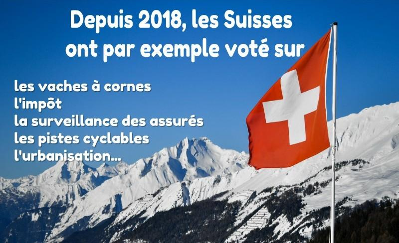 Quelques exemples de votations...