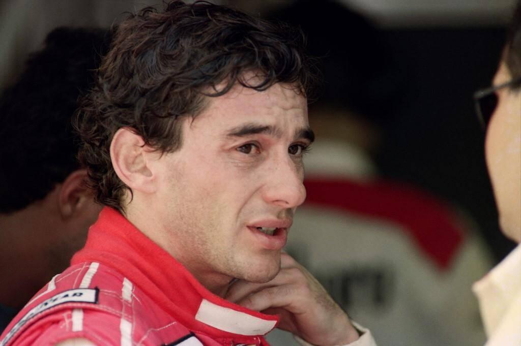 Senna avant la course en 1992.