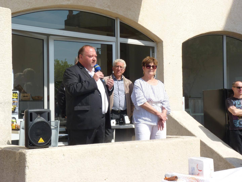 Olivier Chantreau a annoncé sa candidature sous les applaudissements.