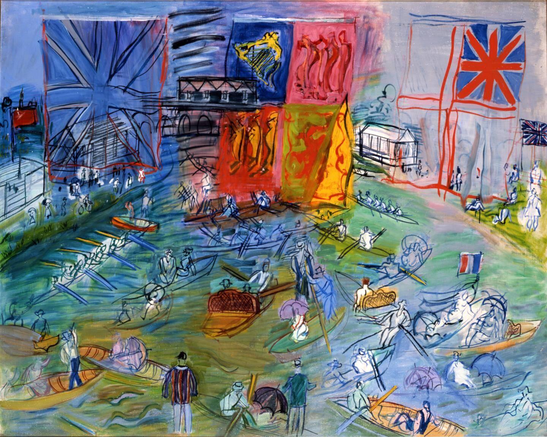 """""""Parade - Les Régates à Henley"""", toile de Dufy."""