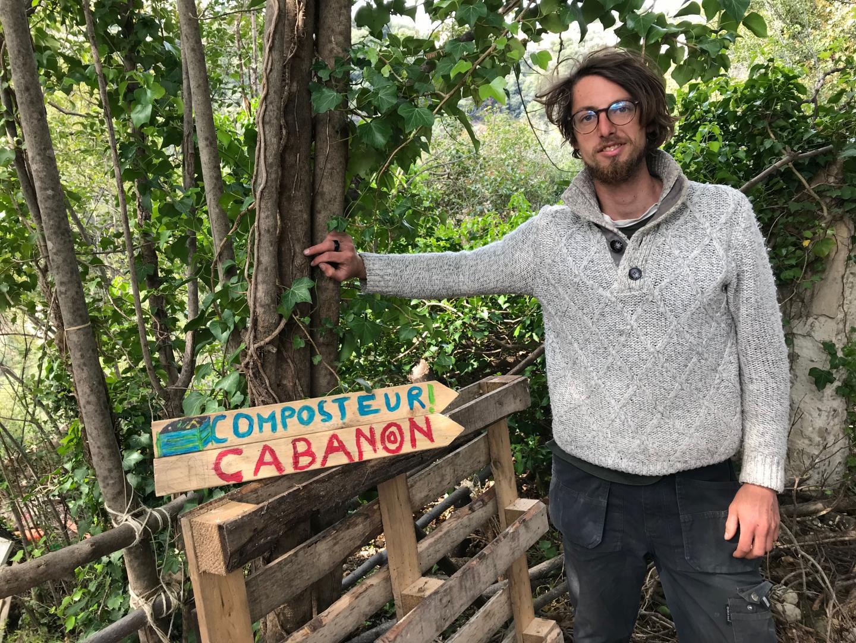 Yoann, bénévole au jardin du Petit Pessicart.