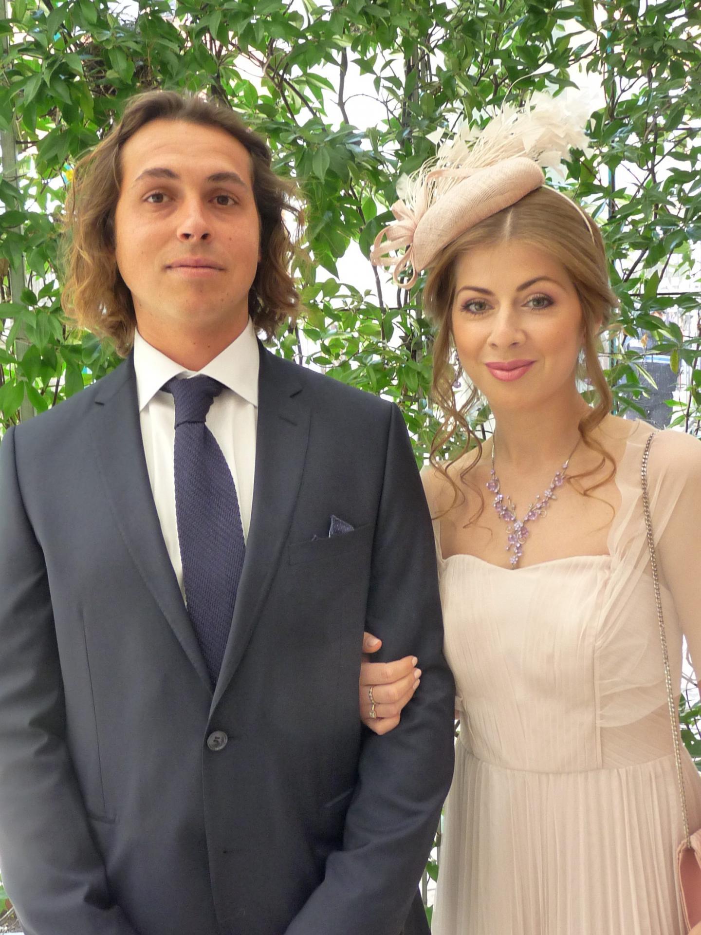 Pierre Sergi, vigneron et Anastasiya Lomonosova, assistante de direction.
