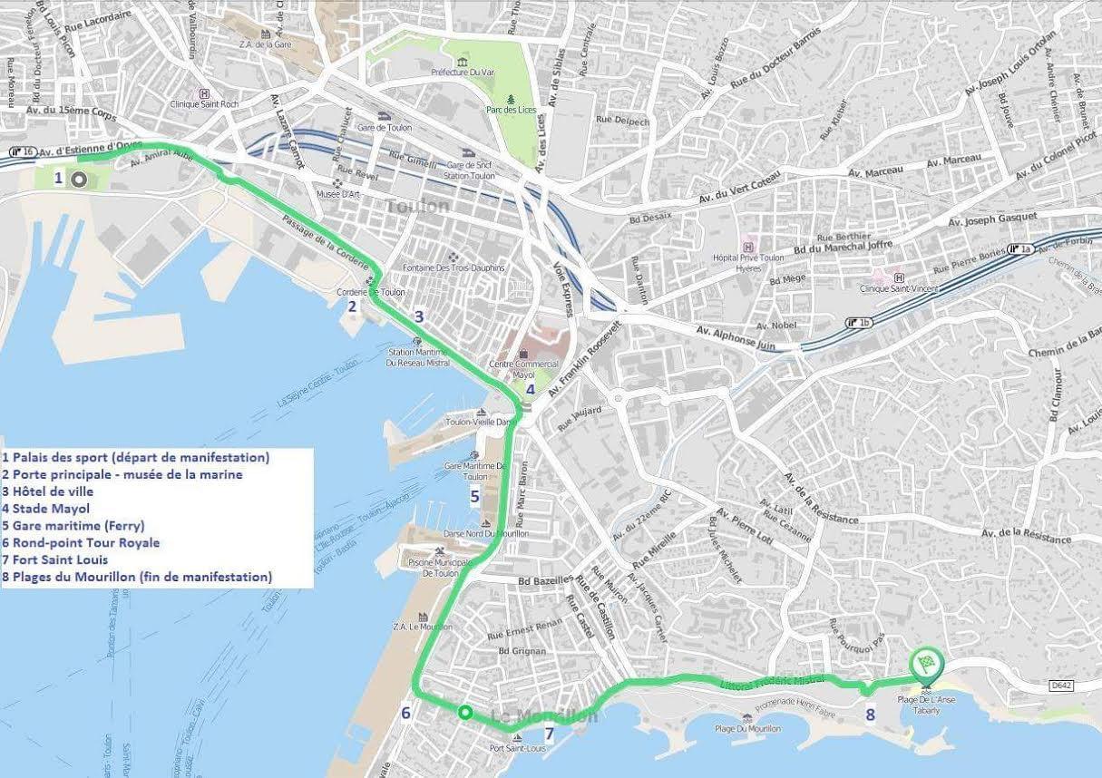 Le seul parcours autorisé par la préfecture.