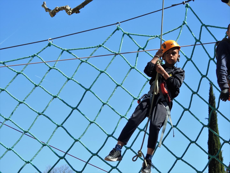 Giovani, 8 ans, a fait le parcours d'accrobranches sans trembler.