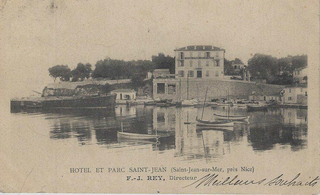 L'hôtel et le parc Saint-Jean en 1905.