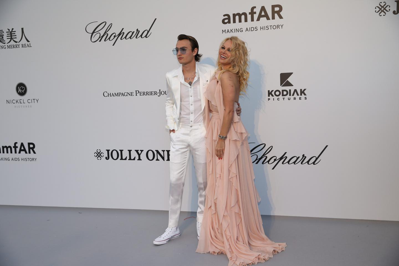 Pamela Anderson avec son fils.