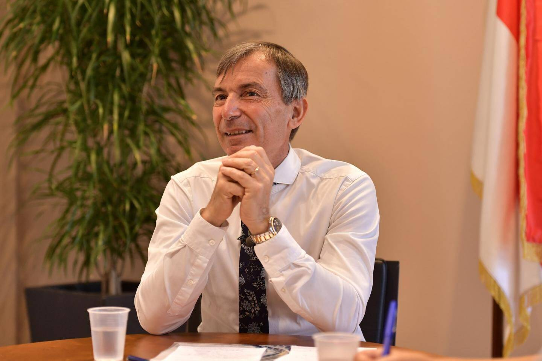 Didier Gamerdinger n'entend pas céder à la pression de la rue. ( Photo Charly Gallo/Dir.Com.)