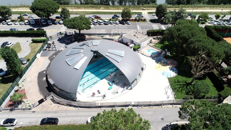 Le maire Joseph Segura a baptisé hier la piscine « Eric Guiraud ».